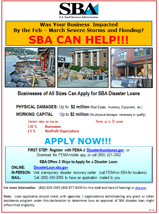 SBA Disaster Assistance - Business